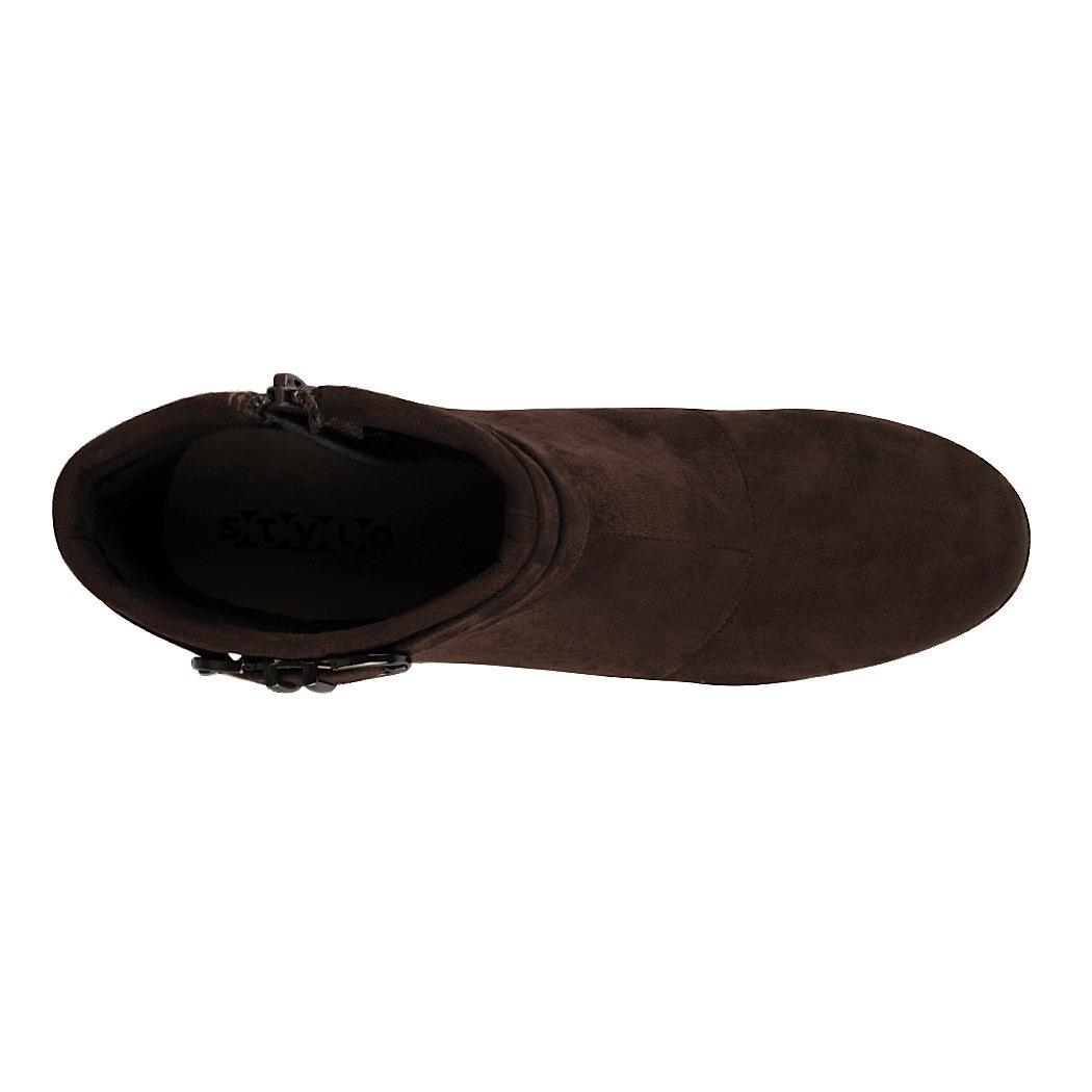 2723d511 ... botas de vestir stylo para mujer suede café 6552-0 -C185302- ...