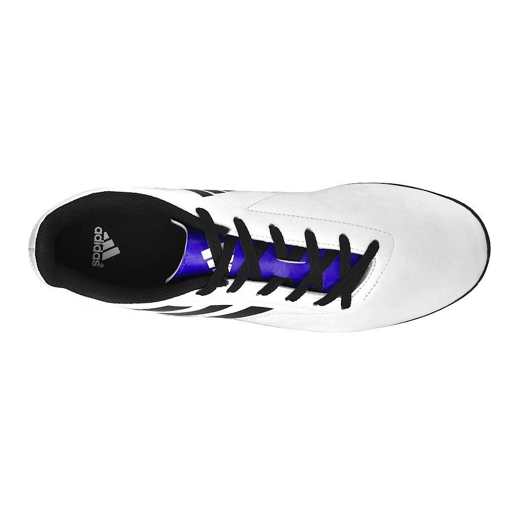 Acostumbrarse a Gracia Catarata  pappomania.com : Tenis de futbol adidas bb0561 simipiel blanco 25-28