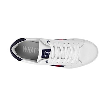 Tenis casuales what´s up unisex simipiel blanco 160792