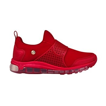 tenis casuales para dama what´s up 0262-27 rojo